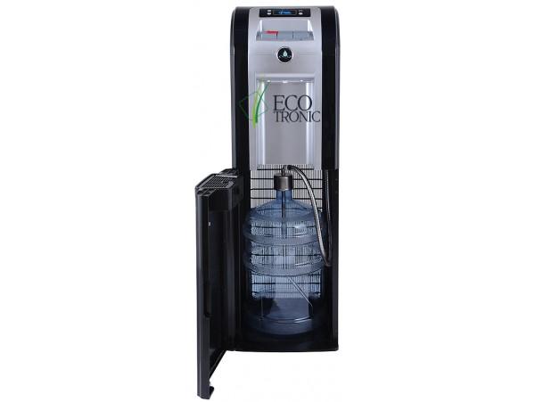 Кулер для воды напольный с нижней загрузкой Ecotronic P8-LX black/silver