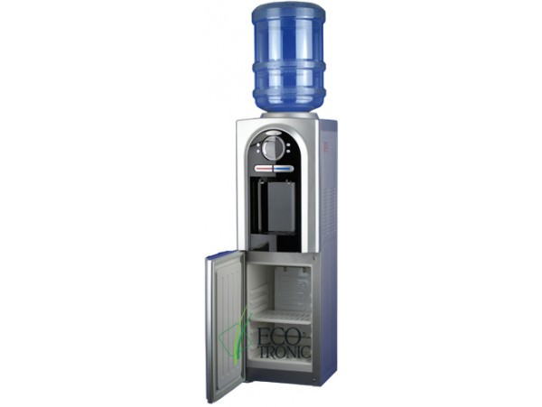 Кулер для воды напольный с холодильником Ecotronic C2-LFPM black/silver