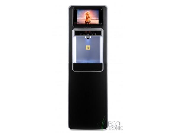 Кулер с нижней загрузкой бутыли Ecotronic P5-LXAD с дисплеем для видео